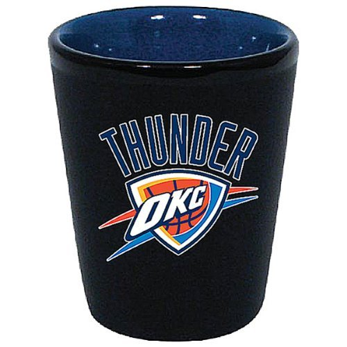 Oklahoma City Thunder Two Tone Black Ceramic Shot Glass ()