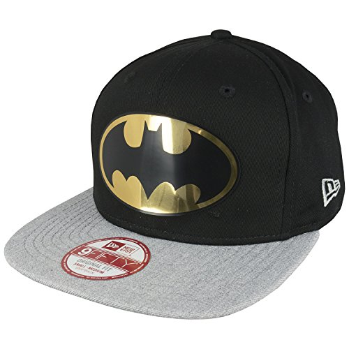 New Era Unisex Adult's Batman Logo Hat - Medium / Large, Black
