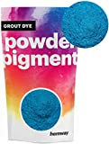 Hemway Grout Dye Pigment Concrete Colour Powder Render Mortar Pointing Powdered Brick Toner (1.8oz / 50g, Metallic Ocean Blue)