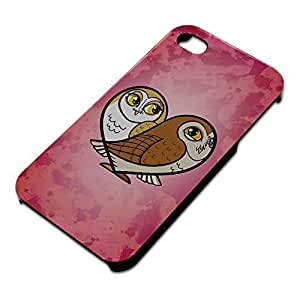 Heart Owls Slim Fit Hard Case Fits Apple iPhone 4 4S