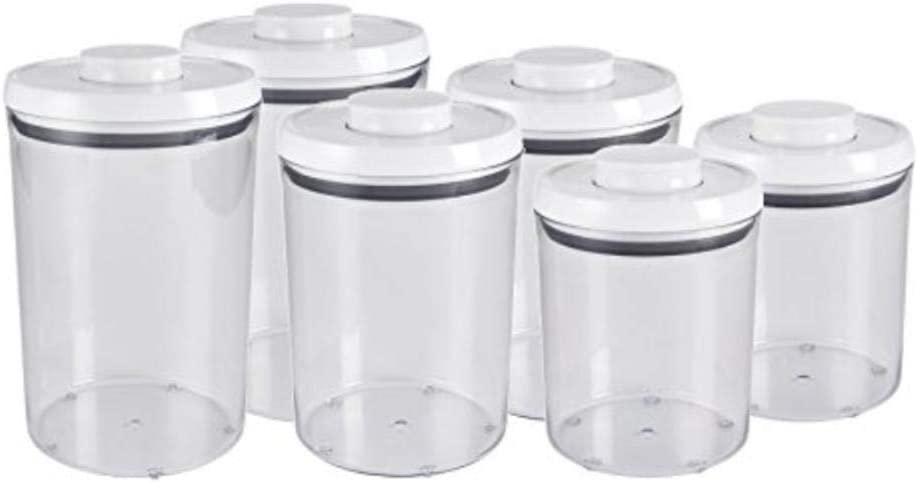 OXO 6-Piece Pop Round Canister Set, White