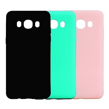 Funda Samsung Galaxy J7 2016, 3Unidades Carcasa Galaxy J7 2016 Silicona Gel, OUJD Mate Case Ultra Delgado TPU Goma Flexible Cover para Samsung J7 ...