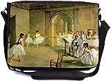 Rikki Knight Edgar Degas Art Hall of the Opera Ballet Design UKBK Premium Messenger Bag - School Bag - Laptop Bag - for School or Work - with MATCHING Coin Purse