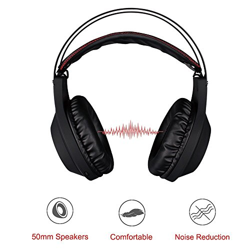 51 4P6ZQeNL - NUBWO N2 PS4 Xbox One PC Headset Gaming, Stereo Gamer Headphones with Mic Headset Microphone Computer Playstation 4 Xbox 1 Games