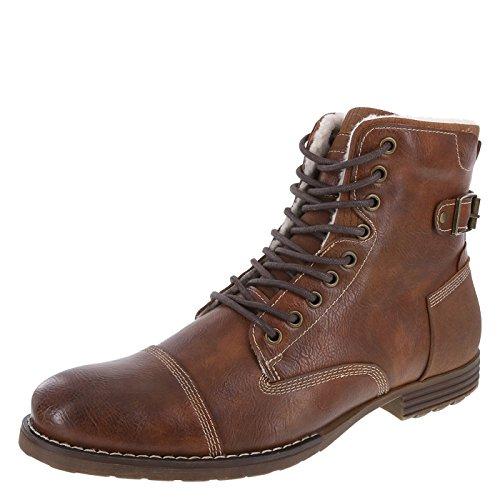 Dexter Men's Cognac Men's Fleece-Lined Liam Cap Toe Boot 7.5 Regular