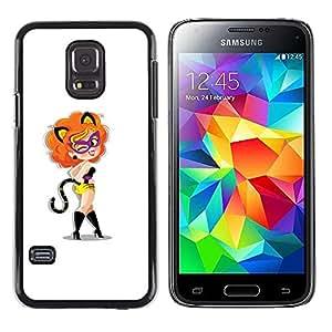 LECELL--Funda protectora / Cubierta / Piel For Samsung Galaxy S5 Mini, SM-G800 -- Gato Foxy Sexy Lady --