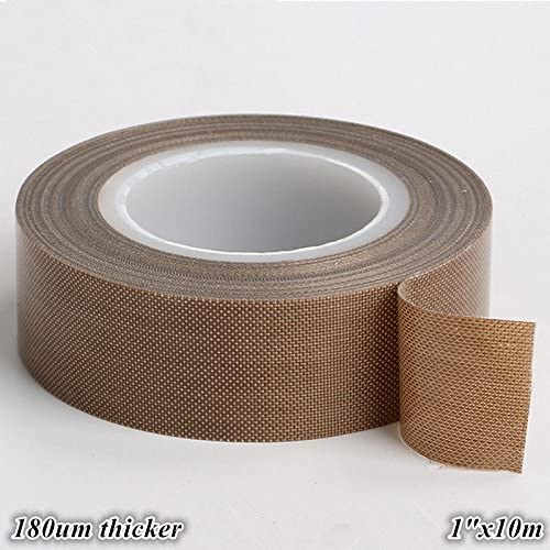 Sunnytape 0.18mm Thick Smooth Surface Non Stick Brown Teflon Sheet with Adhesive