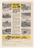 1960 Galion Model 160 Motor Graders 8 States Original Print Ad (45111)