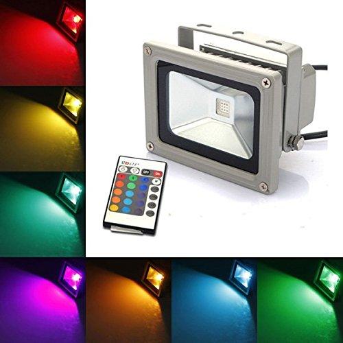 10W-RGB-900LM-Color-Changing-Outdoor-Remote-LED-Flood-Wash-Light-AC85-265V