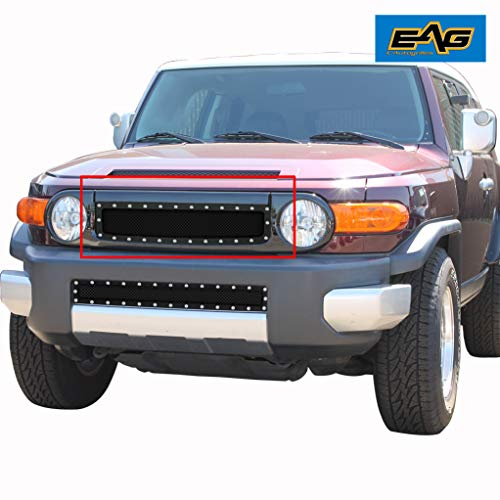 EAG Rivet Stainless Steel Wire Mesh Grille Fit for 2007-2014 Toyota FJ Cruiser - Fj Cruiser Grill