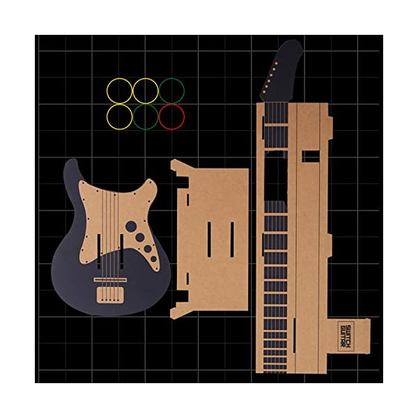 MENEEA Cardboard Guitar for Nintendo Switch Accessories Variety Kit,Guitar for Toy-Con Garage 2