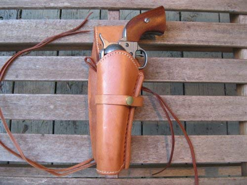 (Western Gun Holster - Natural Color - Left Handed 22 Caliber Single Action Revolver - Size 6