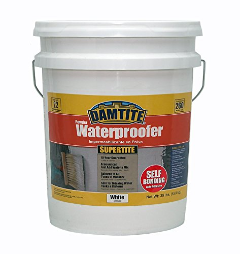 Damtite 01351 White SuperTite SelfBonding Powder Waterproofer 35 lb Pail