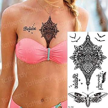 HXMAN 5 Unids Tatuaje Temporal Pegatina Impermeable Sexy Sexy Para ...