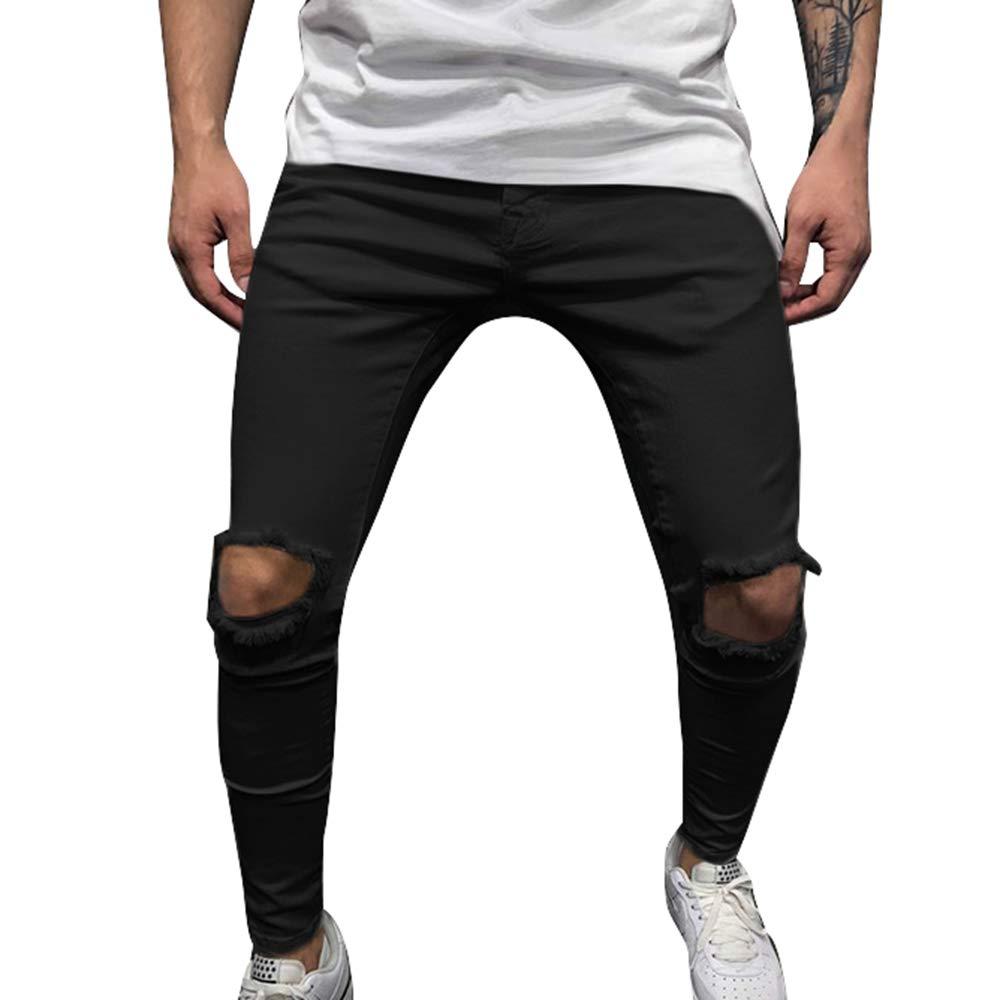 Pantalon salopette homme streetwear déchiré jean slim custom hip hop rap fashion