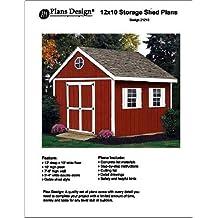 12' x 10'Gable Storage Shed Project Plans -Design #21210