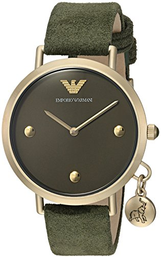 Emporio Armani Women's Quartz Stainless Steel Casual Watch, Color:Green (Model: AR11052)