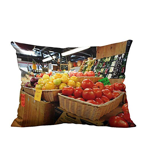 ve Throw Pillow Case Fruit Collection Ideal Decoration(Double-Sided Printing) 19.5x60 inch ()