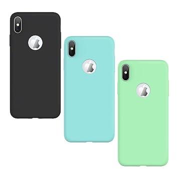KOTPARX Funda para iPhone XS MAX, Carcasa Silicona Gel Mate Case Ultra Fina Delgado TPU Goma Flexible Bumper Shock Protección Anti-Arañazos Cover [3 ...
