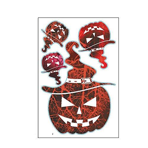 (ARAYACY Halloween Horror Pumpkin Head Wall Sticker Bar Haunted House Decoration Sticker)