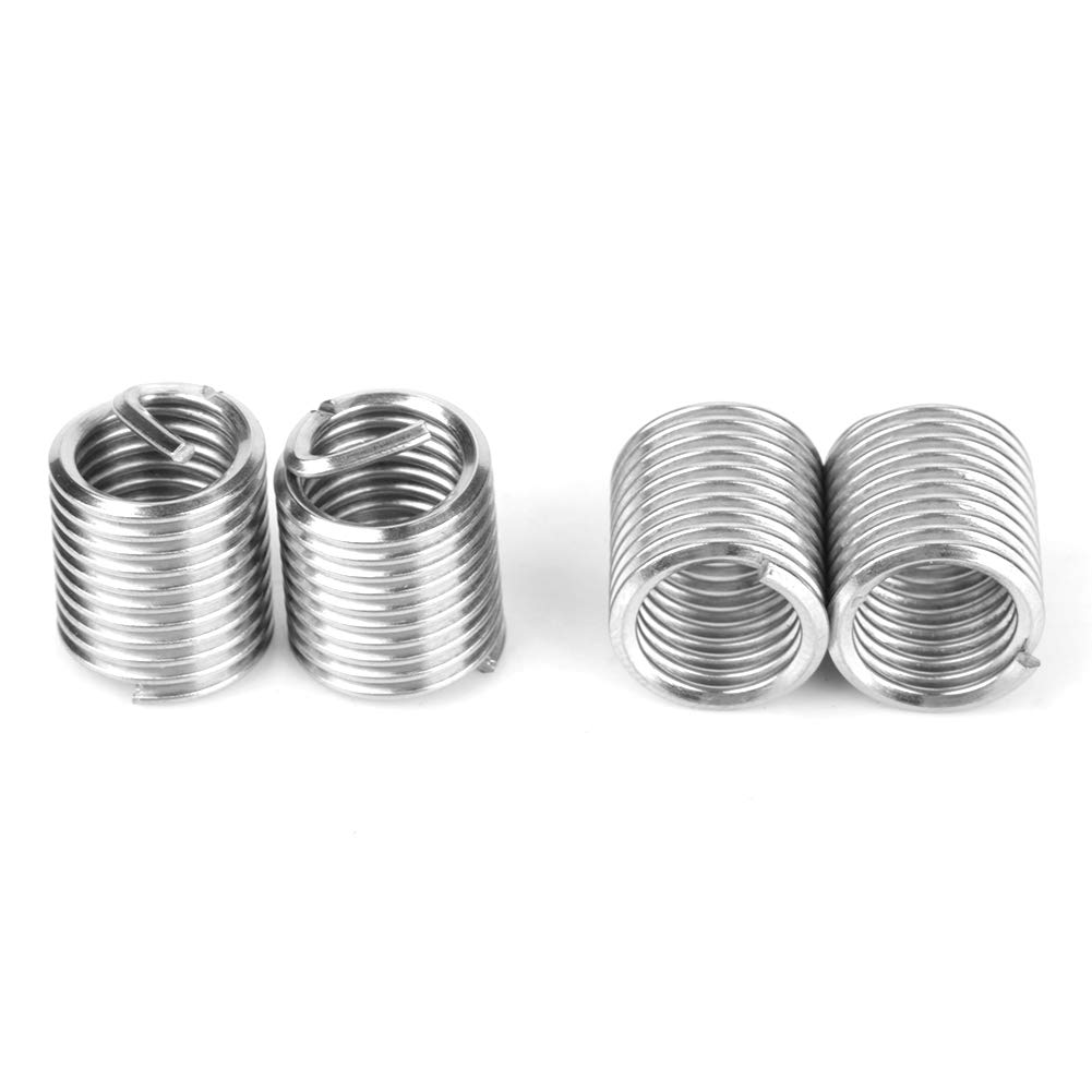 Threaded Inserts 50pcs Stainless Steel Coiled Wire Helical Screw Thread Inserts M8 x 2D