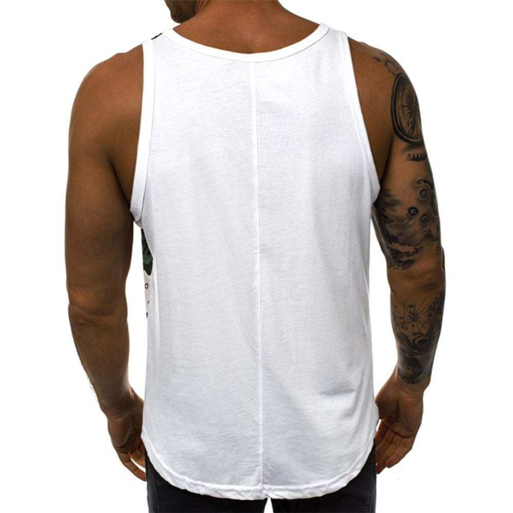 Stylish Graffiti Blouse Fitness Comfortable Tops Balakie Hip Hop Vest for Men