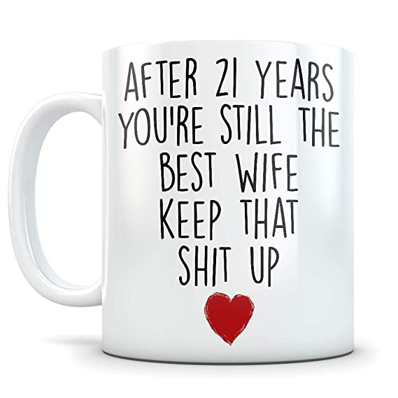 amazon 21st anniversary gift for women funny 21 year wedding 16 Year Wedding Anniversary amazon 21st anniversary gift for women funny 21 year wedding anniversary for her best marriage coffee mug i love you for couples celebrating their