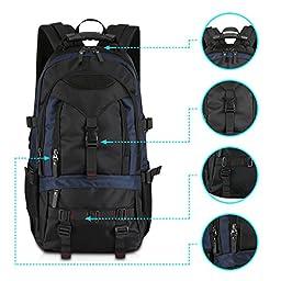 KAKA Terylene Fabric Backpack for 17-Inch Laptops - Blue