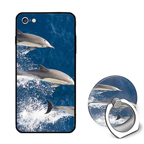 Lovely Dolphins iPhone 6 / 6s Case Ultra Light Slim Fit Anti Scratch Fingerprint Premium with Ring ()