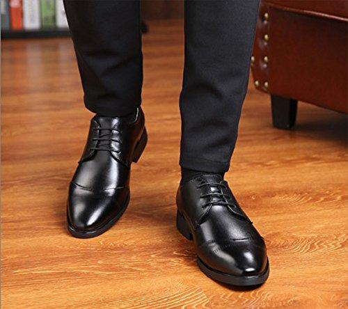 Nero 37 Rosso Stringate Brogue Sera Vintage Uomo Cuoio Derby Oxford Marrone Nero Pelle Basse Scarpe Verniciata Elegante 47EU q7pZ6