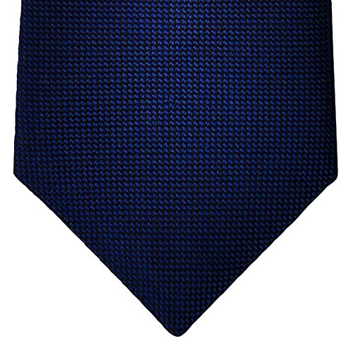 Retreez Solid Plain Color with Square Textured Woven Microfiber Pre-tied Boy's Tie - Navy Blue - 24 months - 4 years by Retreez (Image #2)