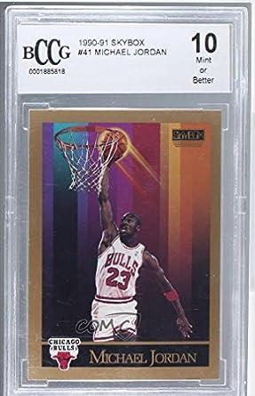 b4d1e600651e3 Amazon.com: Michael Jordan Graded BCCG Mint (Basketball Card) 1990 ...