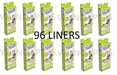 12 X PET BRANDS CAT LITTER TRAY LINERS LARGE 8 PACK (96 LINERS) FIT VAN NESS 89CM X 46CM Y3 CL004