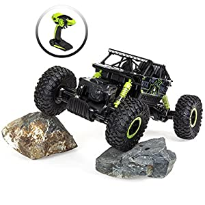 Best Choice Products 2.4 GHz 1/18 Rock Crawler Off-Road Vehicle High Speed Racing Remote Control Car (Green/Black)