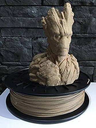 Filamento lv3d Pla madera (Natural Wood) 1.75 mm para impresora 3d ...
