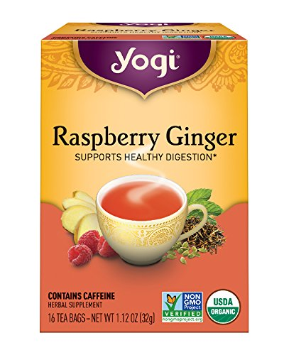 Yogi Tea, Raspberry Ginger, 16 Count (Pack of 6), Packaging May Vary