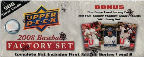 "2008 Upper Deck Baseball Factory Sealed ""First Edition"" S..."