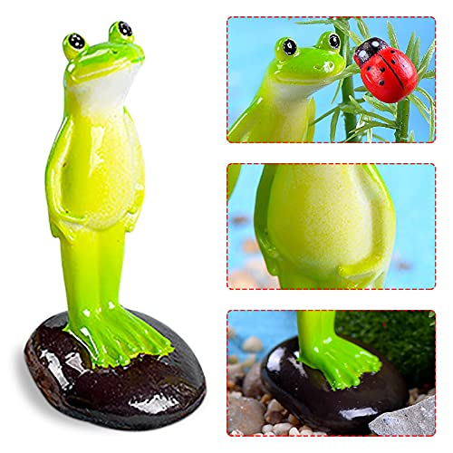 bestheart Standing Frog ,Statue Garden Yard Outdoor Decor,Art-Standing Frog Home Decor,Garden Decor and Figurines Outdoors Frog Ornaments for Home Patio Yard Party Decor (1PC)