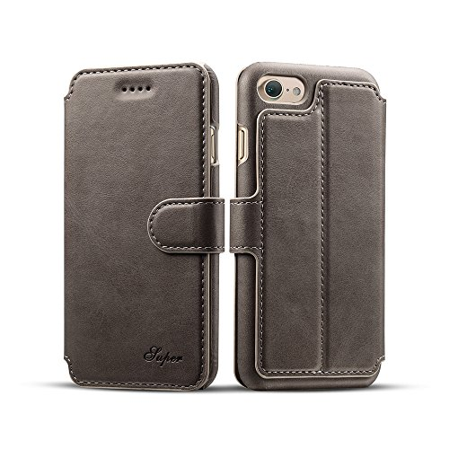 Leather Wallet Case For iPhone 7, MKLOT Premium PU Leather Wallet Case...
