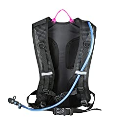 Flashingbackpack 2-Litre Water Bladder Hydration Pack with Flash, Purple