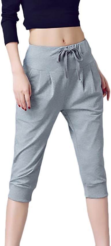 Pantalones Mujer Pantalon Corto Tiro Alto Color Solido Anchos Moda Especial Hipster Deportivos Pantalones Deporte Mujer Talla Grande Color Gris Size 2xl Amazon Es Ropa Y Accesorios