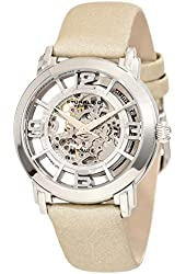 Stuhrling Original Women's 156.121S2 Classic Winchester Automatic Skeleton Beige Leather Strap Watch