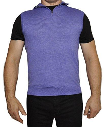 (Polo Ralph Lauren Golf Merino Wool Half Zip Mockneck Vest Sweater (Small, Lavender))