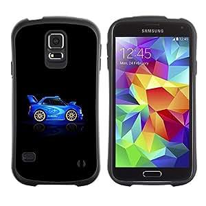 "Hypernova Slim Fit Dual Barniz Protector Caso Case Funda Para Samsung Galaxy S5 [Racing Azul Negro Drive Rally Car""]"