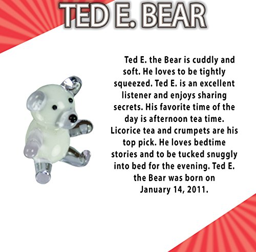 Looking Glass Ted E. the Bear Miniature Glass Collectible (Pack of 48) by Looking Glass (Image #1)