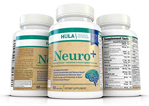 Neuro+ Powerful Cognitive Enhancer -***INVENTORY BLOWOUT***Nootropic – Skyrockets Focus and Mental Clarity – Unleashes Creativity and Memory in Men & Women – Scientifically Formulated Brain Supplement