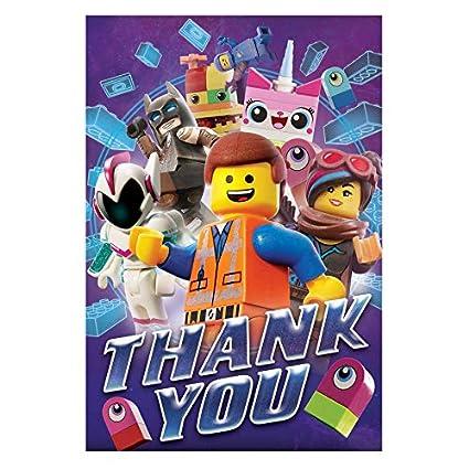 Amazon Com The Lego Movie 2 Postcard Thank You Cards Toys Games
