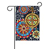My Daily Colorful Compass Decorative Double Sided House Flag 28 x 40 inch