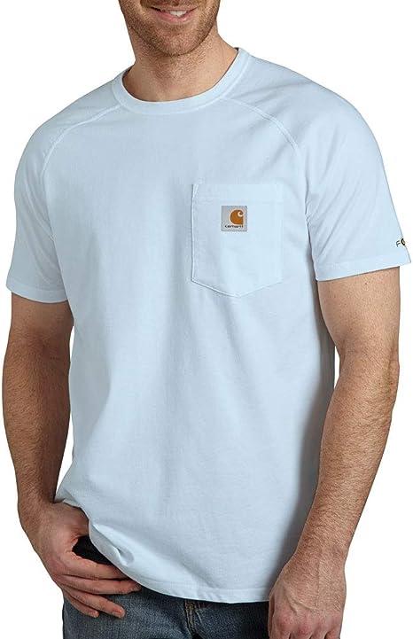 Carhartt Force Cotton Delmont Short Sleeve T-Shirt (Regular and Big & Tall Sizes) Camisa de utilidades de Trabajo para Hombre