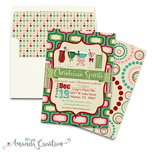 Holiday Cocktail Party Invitations (Christmas Cocktails Party Invitation)